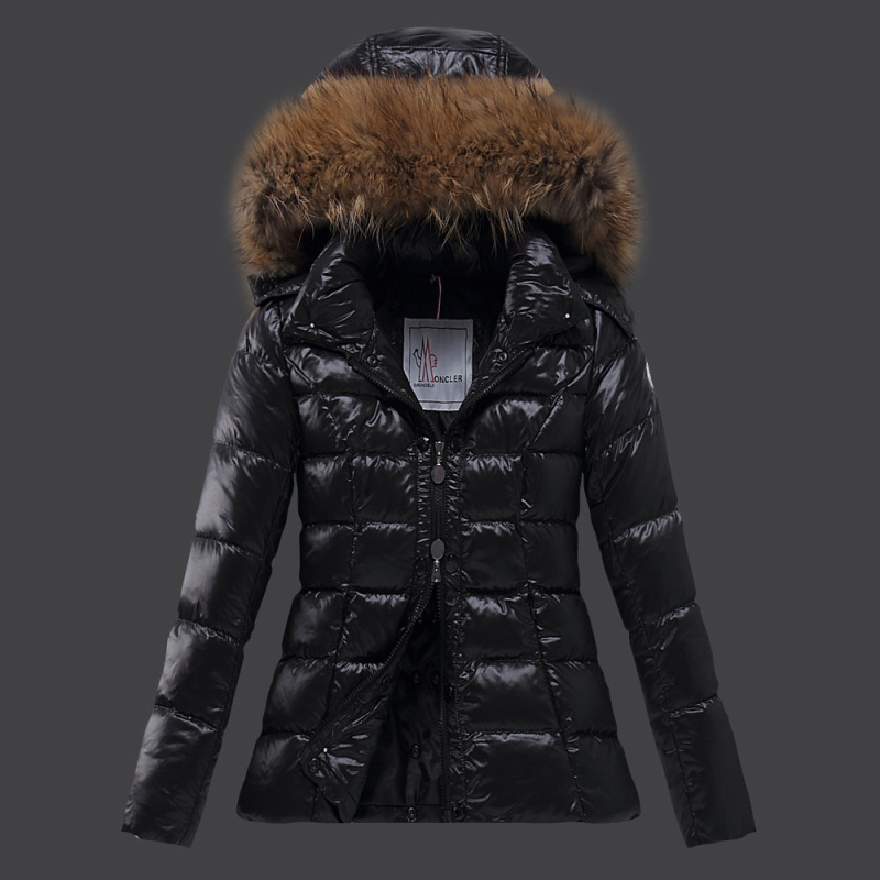 2016 Moncler Down Coats For Women With Fur Cap mc1084
