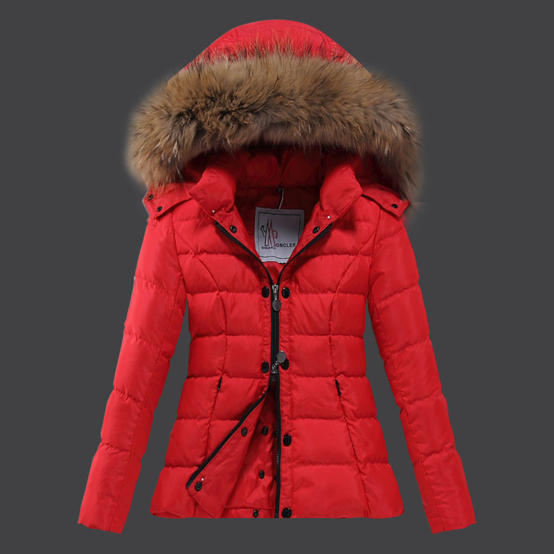 2016 Moncler Down Coats For Women With Fur Cap mc1085