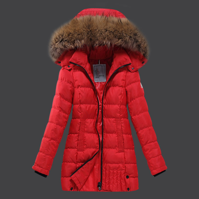 2016 Moncler Long Down Coats For Women With Fur Cap mc1078