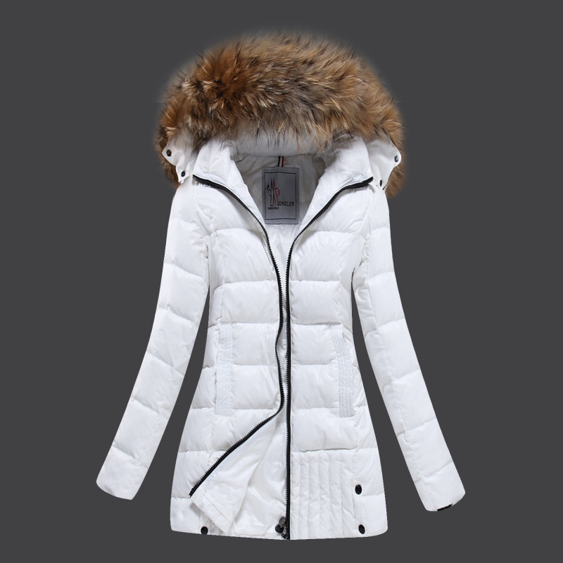 2016 Moncler Long Down Coats For Women With Fur Cap mc1079