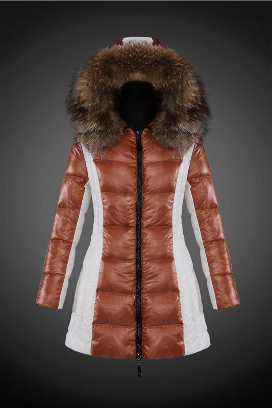 2016 Moncler Long Down Coats For Women With Fur Cap mc1080
