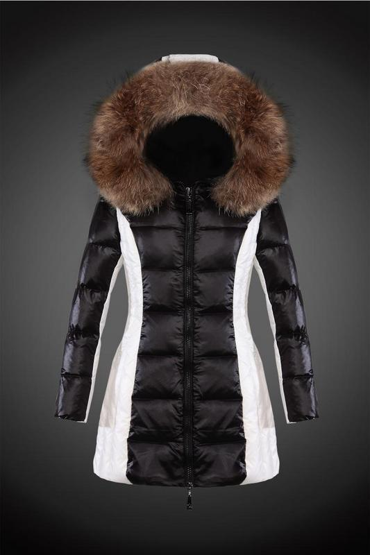 2016 Moncler Long Down Coats For Women With Fur Cap mc1081