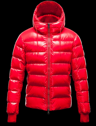 Buy Moncler Men's Aubert Hooded Winter Jacket Red