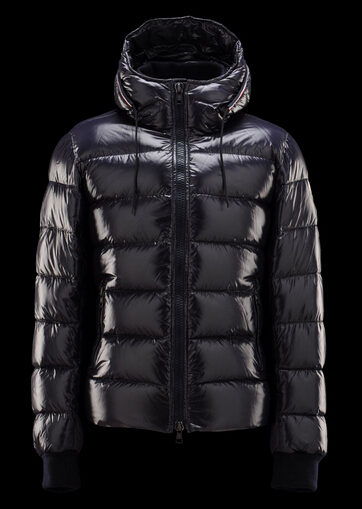 Buy Moncler Men's Aubert Hooded Winter Jacket blue