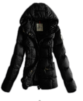 Moncler Women Jacket Hooded Parka Black