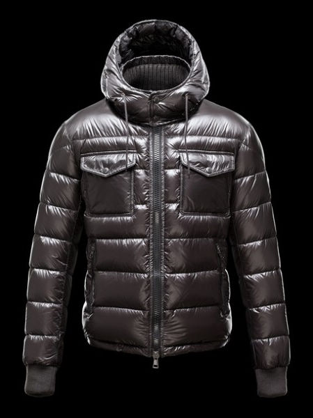 Moncler Jacket Hooded Jacket FedGold Winter Coat Gray