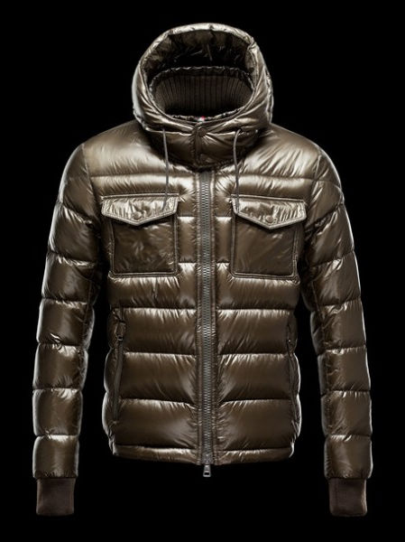 Moncler Hooded Jacket FedGold Hooded Jacket Green Winter Coat
