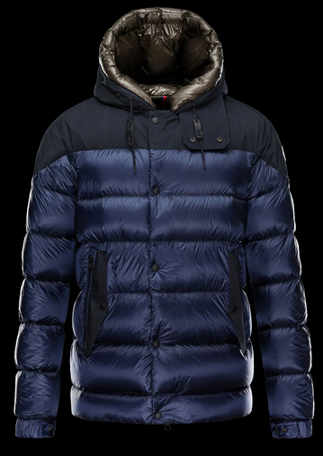 Moncler Jacket GORAN Men Hooded Jacket Blue Boutique