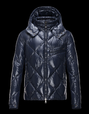 Moncler Men Jacket Newman Hooded Jacket Blue