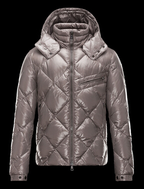 Moncler Men Jacket Newman Hooded Down Jacket Gray