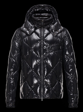 Moncler Men Jacket Newman Hooded Down Jacket Black