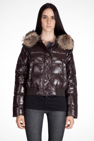 Moncler Alpin Women Jacket Coffee For Sale