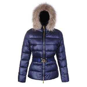 Moncler Angers Women Jacket Belted Blue For Sale