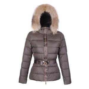 Moncler Angers Women Jacket Belted Brown For Sale