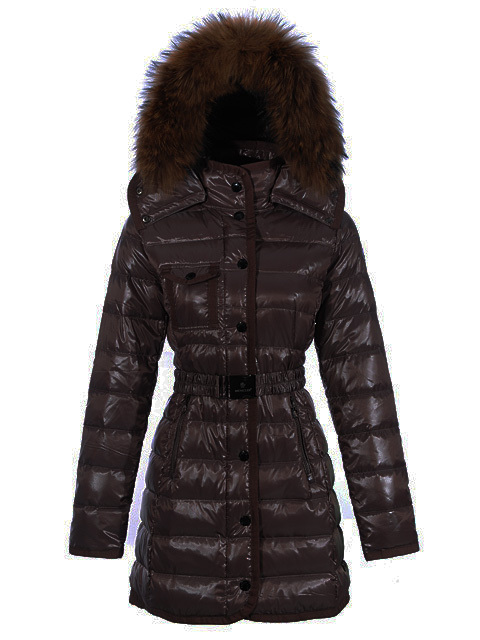 Moncler Armoise Women Coat Coffee For Sale