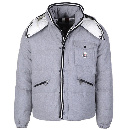 Moncler Branson Men Jacket Gray For Sale