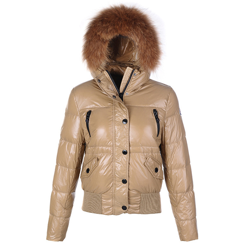 Moncler Breasted Women Jacket Khaki For Sale