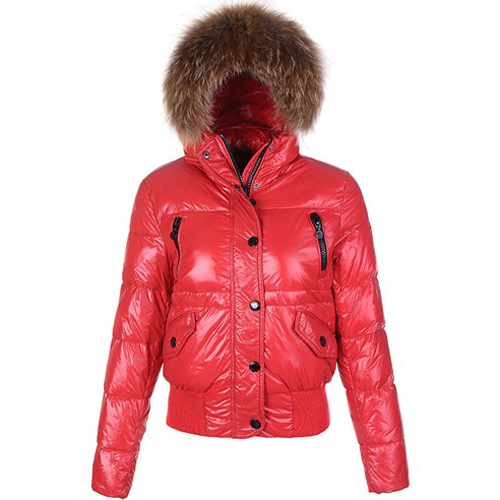 Moncler Breasted Women Jacket Red For Sale