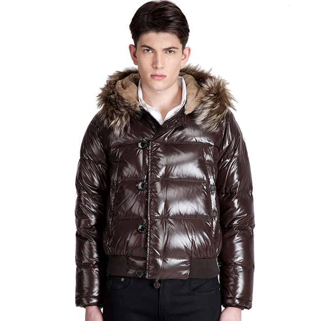 Moncler Bulgarie Men Jacket Brown For Sale