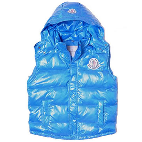 Moncler Casual Mens Vest Blue For Sale