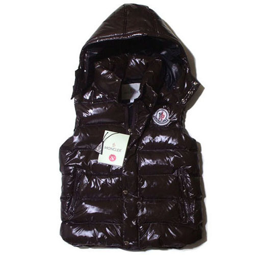 Moncler Casual Mens Vest Coffee For Sale