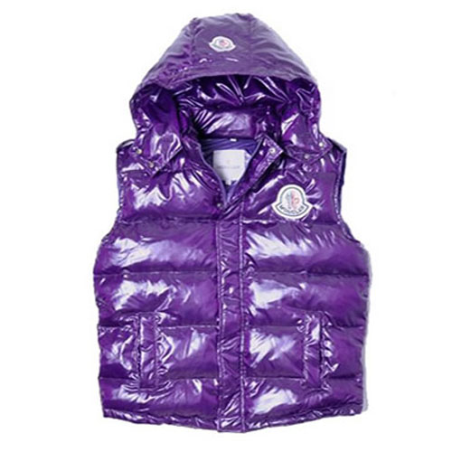 Moncler Casual Mens Vest Purple For Sale