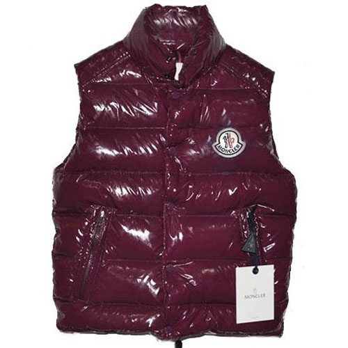 Moncler Clairy Mens Shiny Vest Date Red For Sale