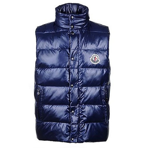 Moncler Clairy Mens Vest Blue For Sale