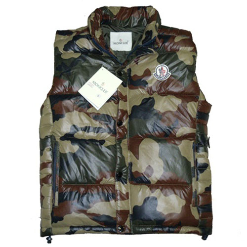 Moncler Clairy Mens Vest Camouflage For Sale