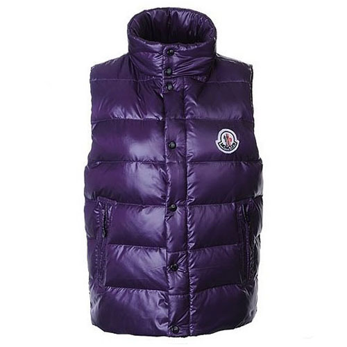 Moncler Clairy Mens Vest Purple A For Sale