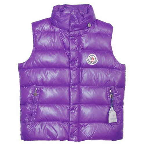Moncler Clairy Mens Vest Purple B For Sale