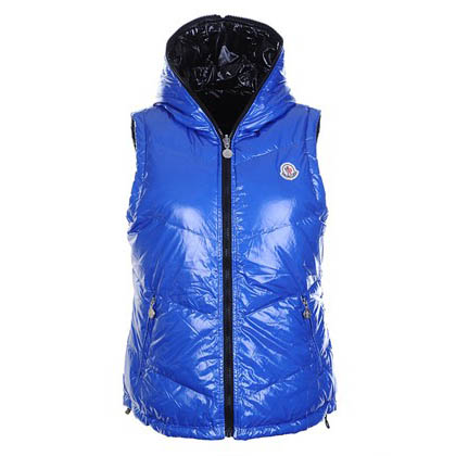 Moncler Double Women Vest Blue For Sale