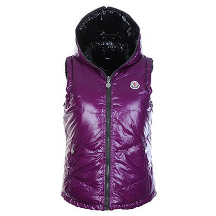 Moncler Double Women Vest Purple For Sale