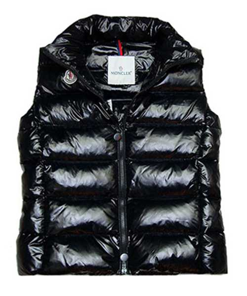 Moncler Down Sleeveless Vest Women Zip Black