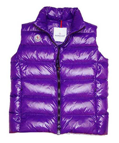 Moncler Down Sleeveless Vest Women Zip Violet