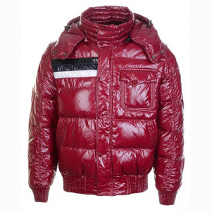 Moncler Fluffy Men Hooded Jacket Red For Sale