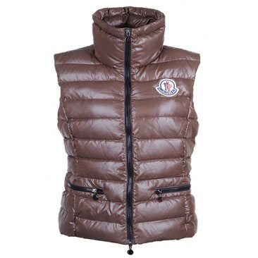Moncler Gaelle Women Vest Coffee For Sale