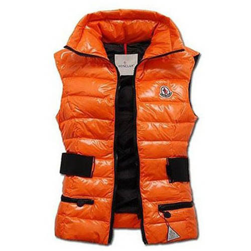 Moncler Gaelle Women Vest Orange For Sale
