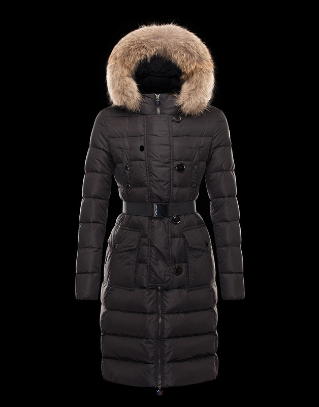 Moncler Genevrier Women Coat Coffee For Sale