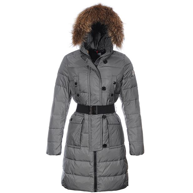Moncler Genevrier Women Coat Gray For Sale