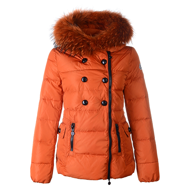 Moncler Herisson Women Jacket Orange For Sale