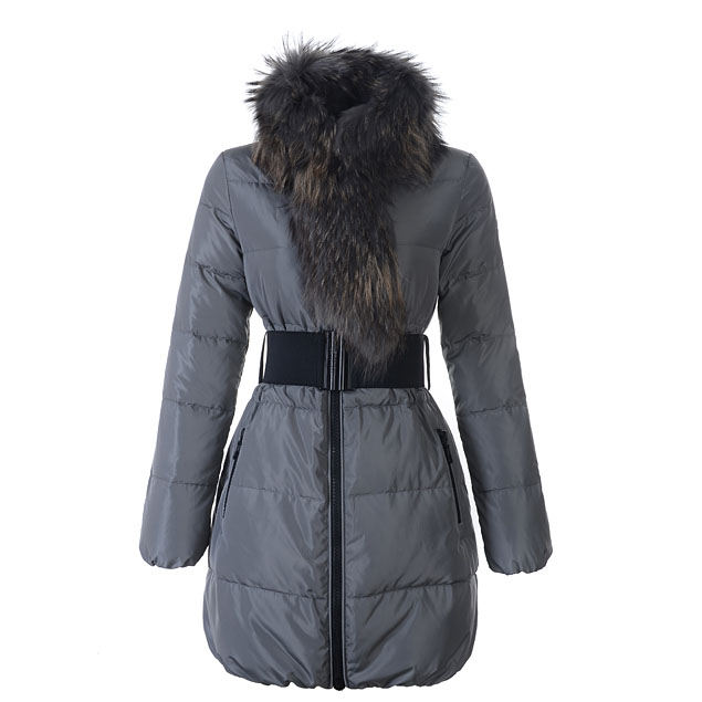 Moncler Lievre Women Coat Gray For Sale