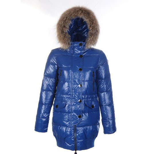 Moncler Loire Women Coat Blue For Sale