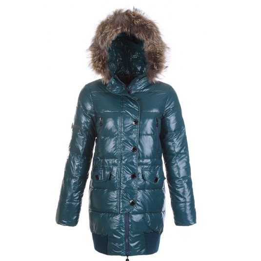 Moncler Loire Women Coat Green For Sale