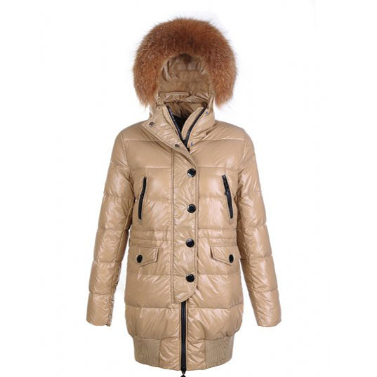 Moncler Loire Women Coat Khaki For Sale