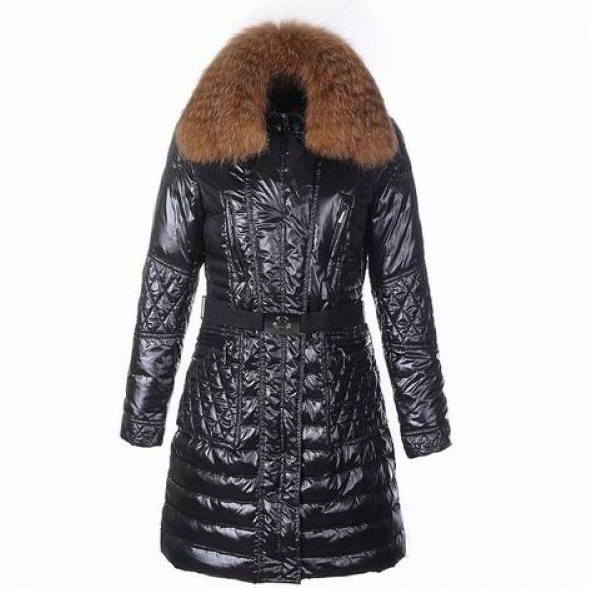 Moncler Maillol Women Coat With Belt Black For Sale