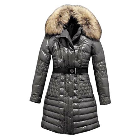 Moncler Maillol Women Coat With Belt Gray For Sale