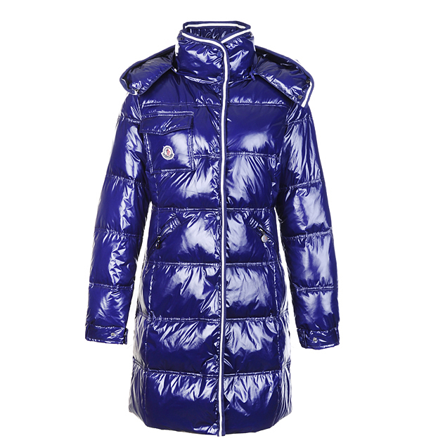 Moncler Manche Women Coat Navy For Sale