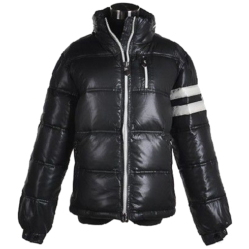 Moncler Men Jacket Double Stripes Black For Sale