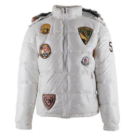 Moncler Men Multi Logo Jacket White For Sale